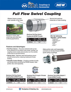 KOA Couplings Full Flow Swivel Couplings
