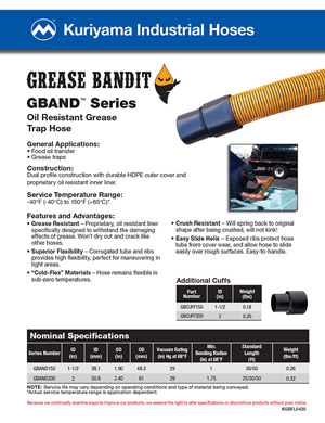 Kuriyama Industrial Hoses - Grease Bandit