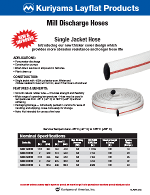Mill Discharge hose flyer