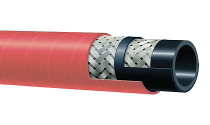 Series T343AH 270 PSI Braided Refinery Steam Hose by Alfagomma