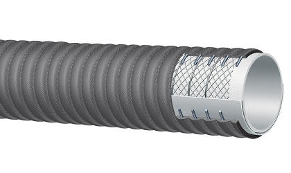 Series T426LB 150 PSI Grey Food S & D Corrugated Hose by Alfagomma