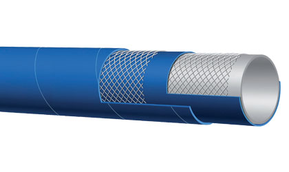 Series T760LE 75 PSI Dry Bulk Food Discharge Hose by Alfagomma