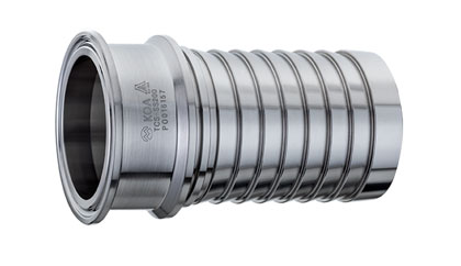 Sanitary Crimp Hose Fitting SS316 Tri-Clamp x Hose Shank