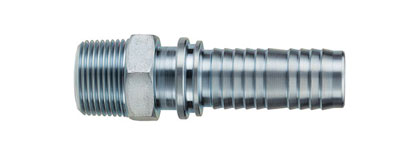 Ground Joint Coupling - Threaded Male Hose Shank with Interlocking Collar