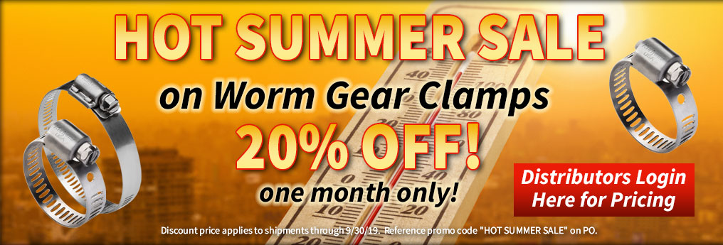 Worm Gear Clamps Promo